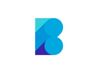Blue B letter mark / logo design symbol by Alex Tass, logo designer
