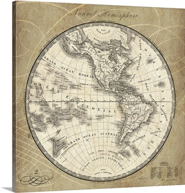 French World Map III Wall Art, Canvas Prints, Framed Prints, Wall Peels   Great Big Canvas