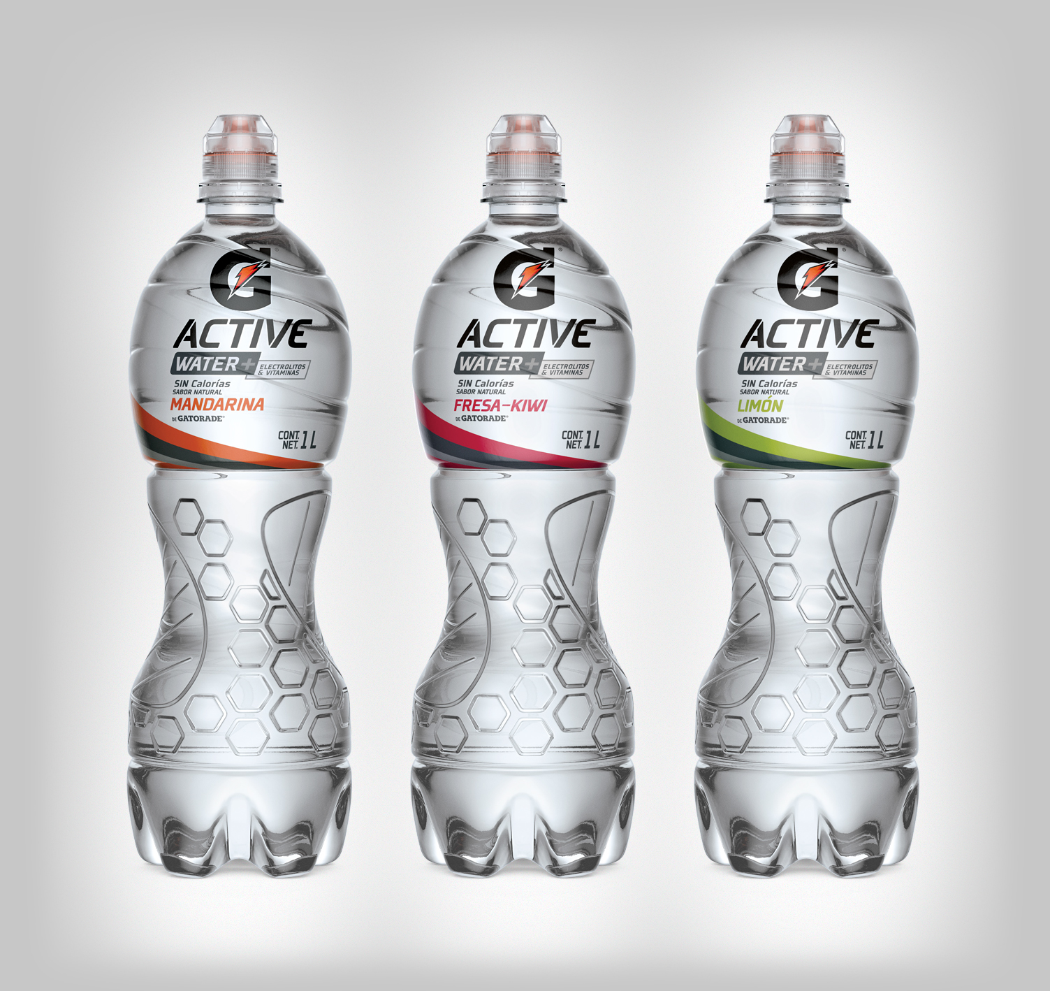 3D bottles to Gatorade Active 1L • Mexico on