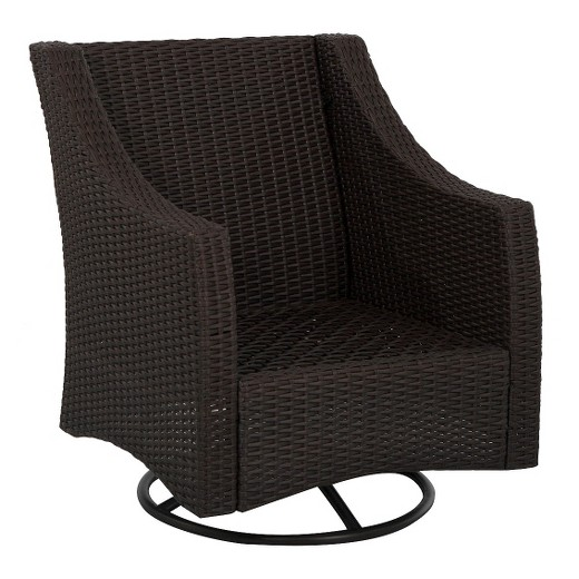 Belvedere Wicker Patio Swivel Club Chair - Frame Only - Threshold? : Target