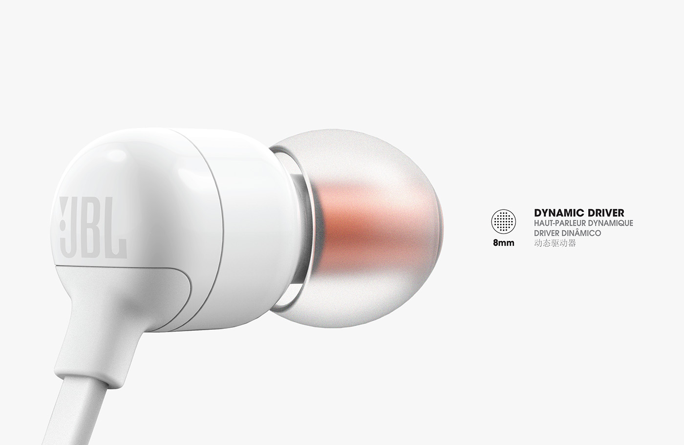 Malta - JBL (T110BT) Wireless in-ear headphones - White