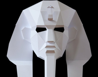 ANUBIS Mask Easy to make Egyptian mask Low-Poly card mask