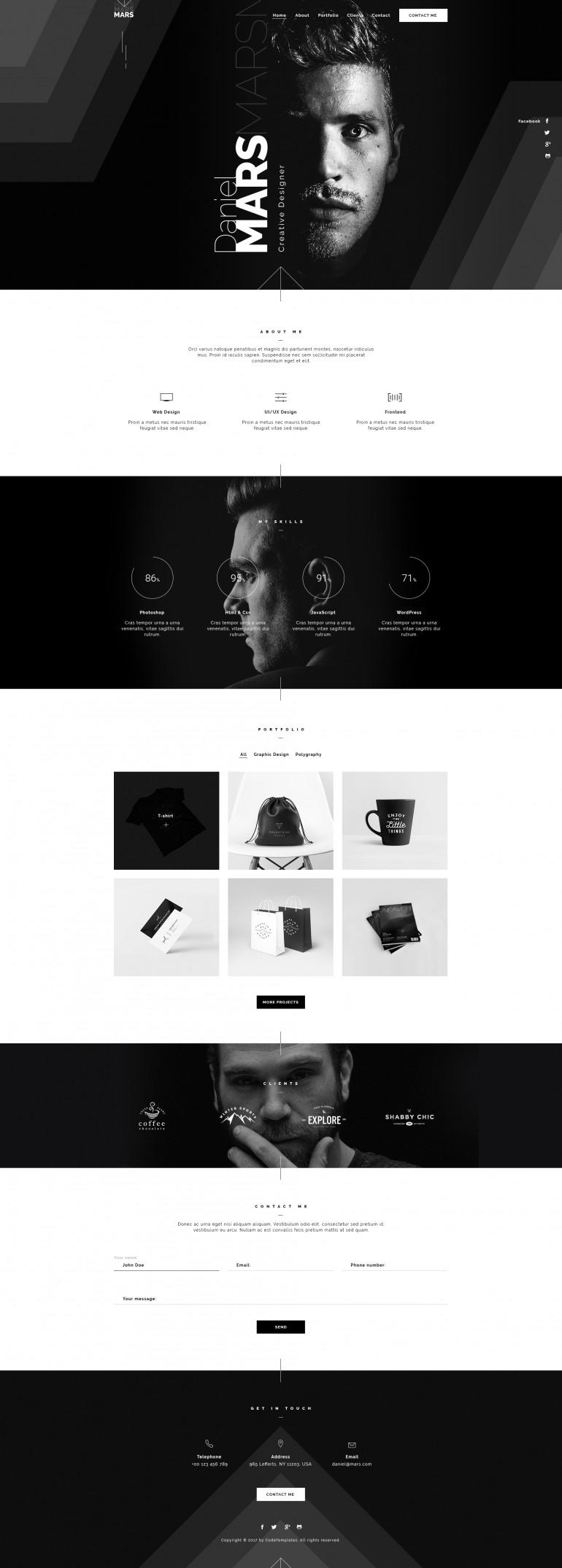 Mars – Personal Portfolio on Inspirationde
