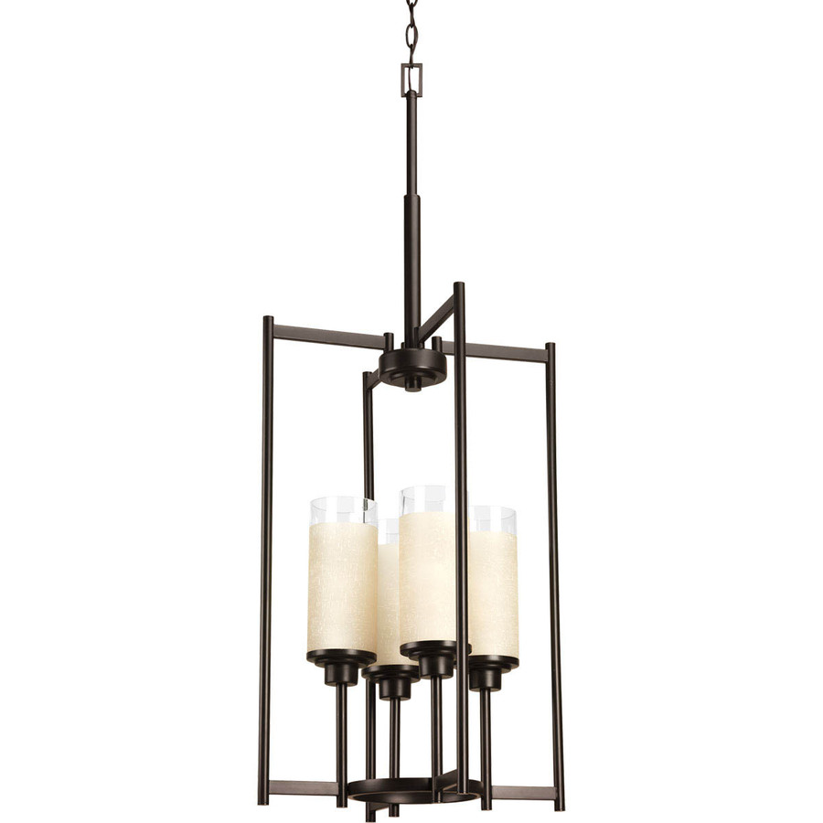 Shop Progress Lighting Alexa 18-in Antique Bronze Single Bell Pendant at Lowes.com