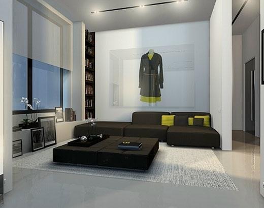 White Balance Minimalist Apartment Interior by Dimaloginoff - Modern Homes Interior Design and Decorating Ideas on Decodir