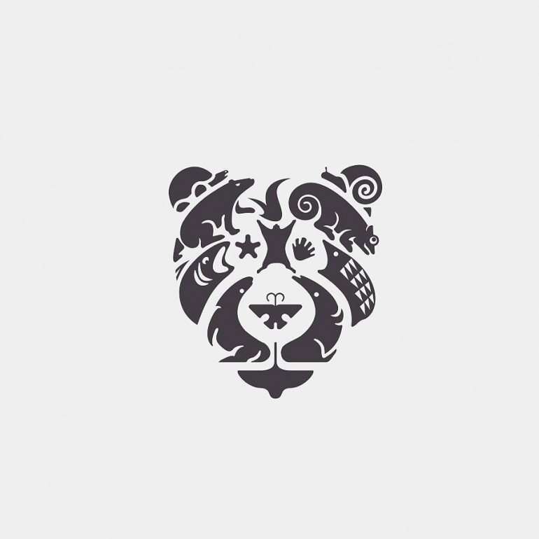Bear and animals Logo design on Inspirationde