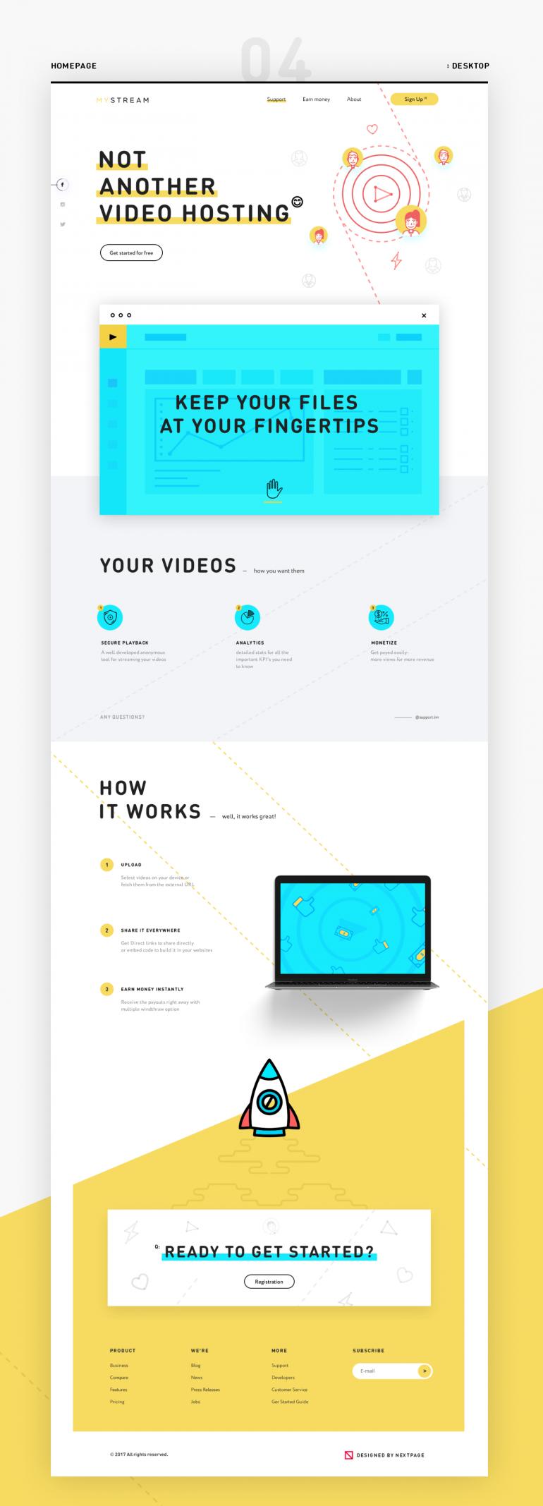MyStream – video hosting website on Inspirationde