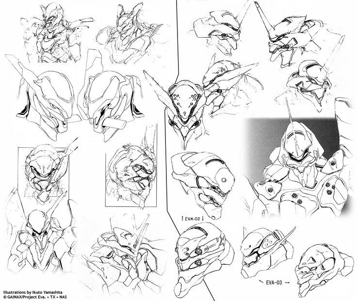 evangelion design sketches - Google Search