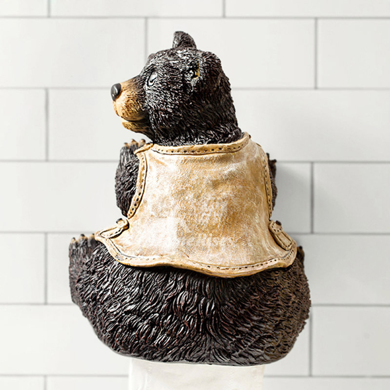 Unique Funny Cute Wall Mounted Bear Toilet Paper Holder