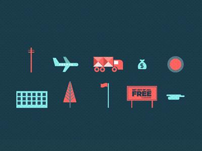 The Bank Job Icon set by Jonathan Quintin