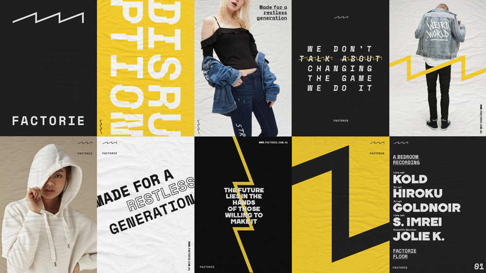 Brand New: New Logo and Identity for Factorie by Interbrand