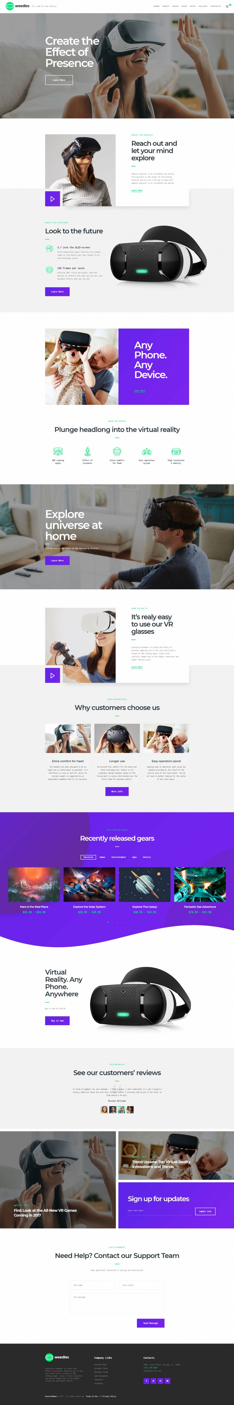 Weedles | Virtual Reality Landing Page & Store on Inspirationde
