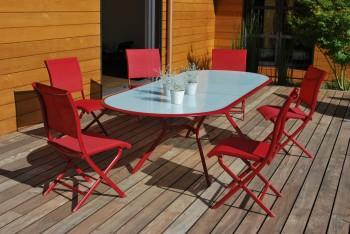Table Cyrus OCEO Rouge - Table - Mobilier
