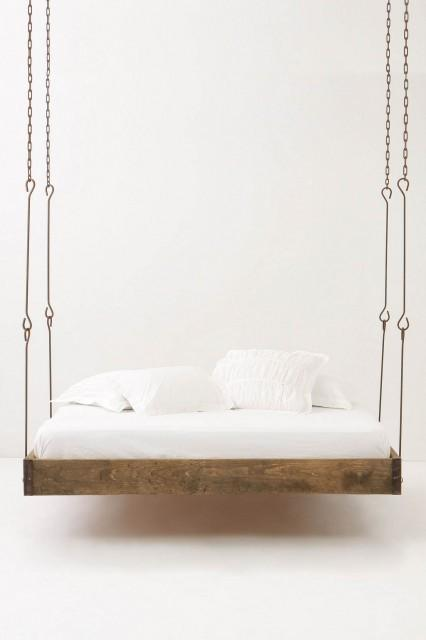 Barnwood Hanging Bed - eclectic - beds - - by Anthropologie
