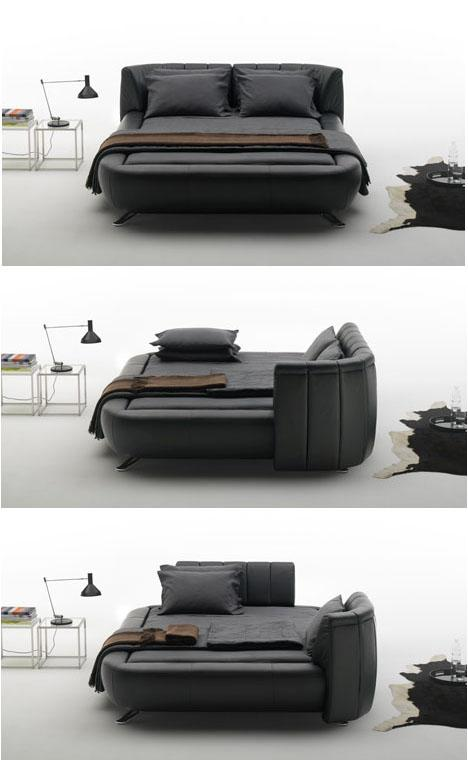 Mobile Headboards Split Beds into Soft Sofas & Solo Spaces | Designs & Ideas on Dornob