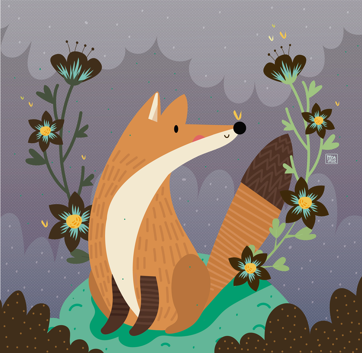 Animals- Children illustration on