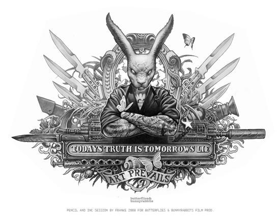FRANKE Illustrator: Papillons et Bunnyrabbits - B & BR