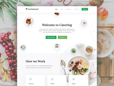Catering Demand Homepage Design Full View by Masudur Rahman ? - Dribbble