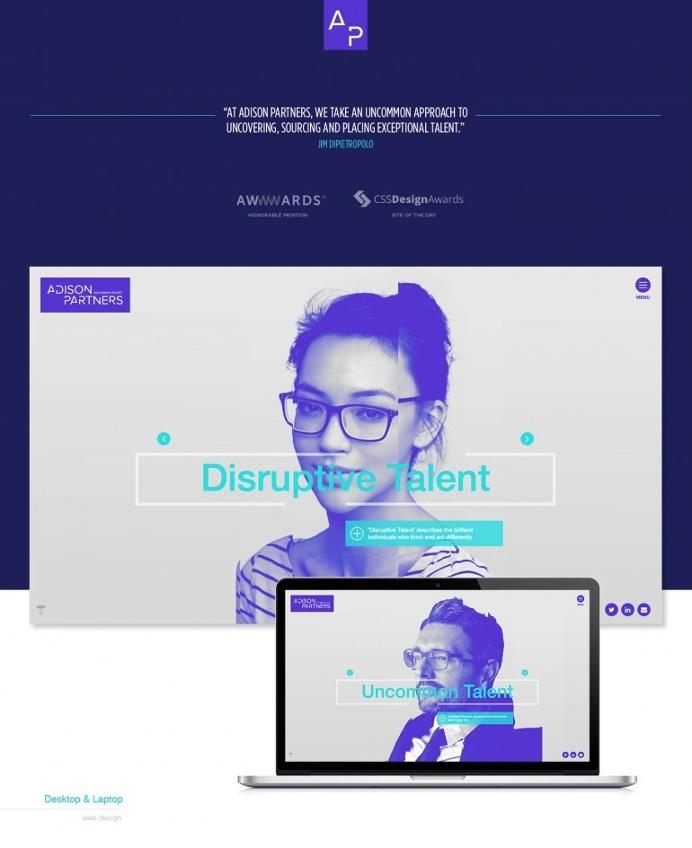Best Layout Adison Partners Branding Web images on Designspiration