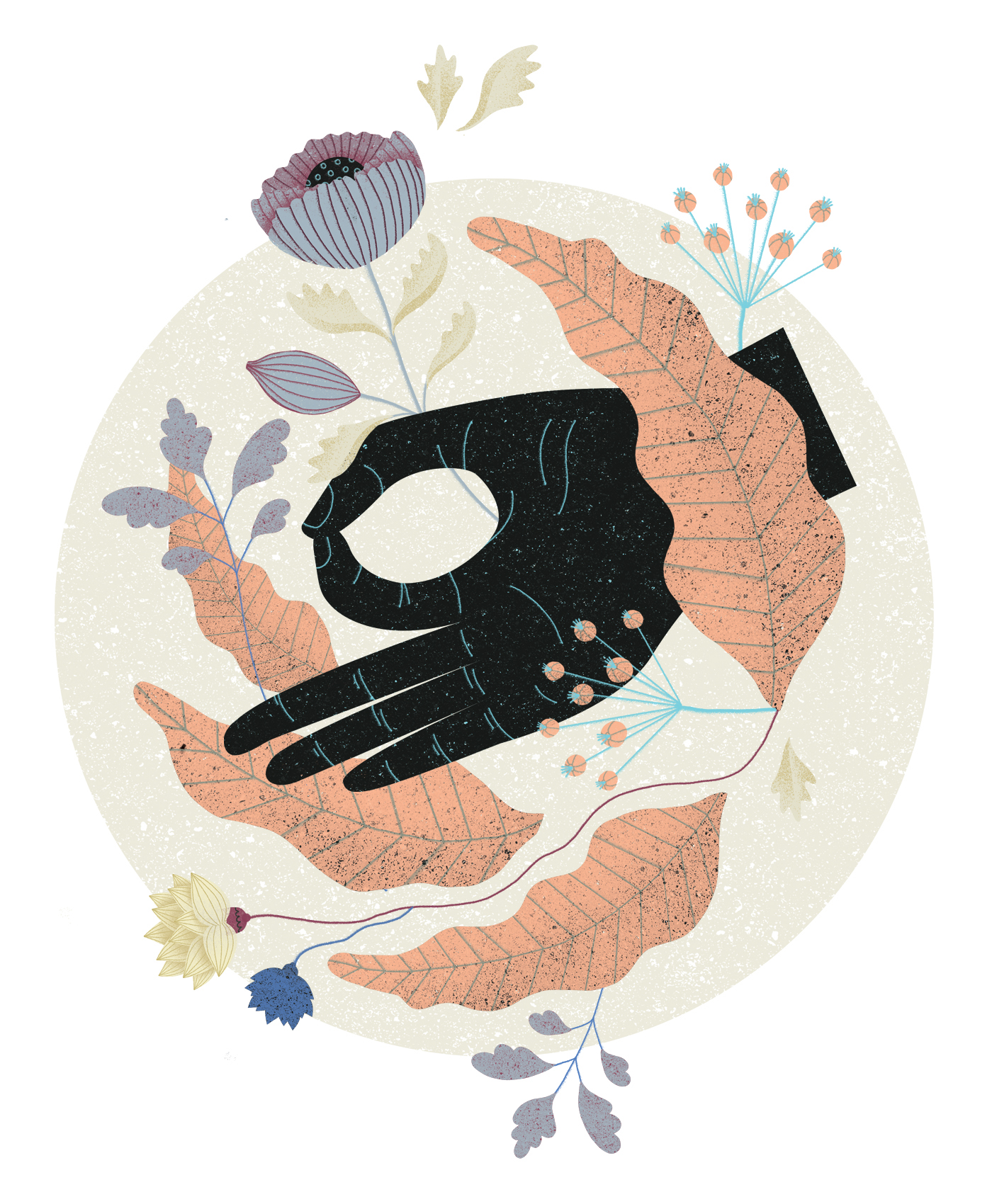 Wellbeing illustrations on