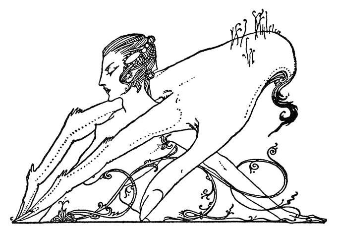 Faust—Scene VII Headpiece – Old Book Illustrations