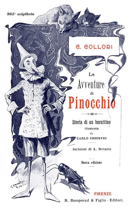 Le avventure di Pinocchio—Title – Old Book Illustrations