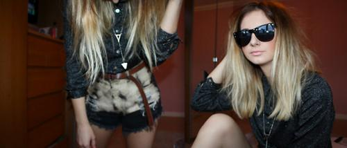 "Ebay Shorts, Ebay Shiny Shirt, Topman Necklace //""Salt & Pepper"" by Julia Trufin // LOOKBOOK.nu"