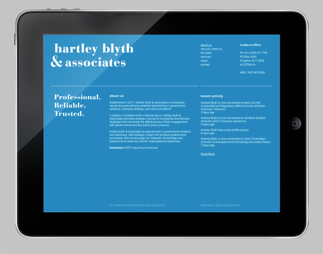 Studio Constantine » hartley blyth & associates + Studio Constantine