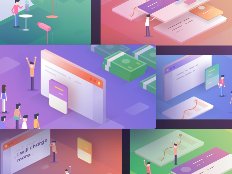 Teachable Email Illustrations by Ghani Pradita - Dribbble