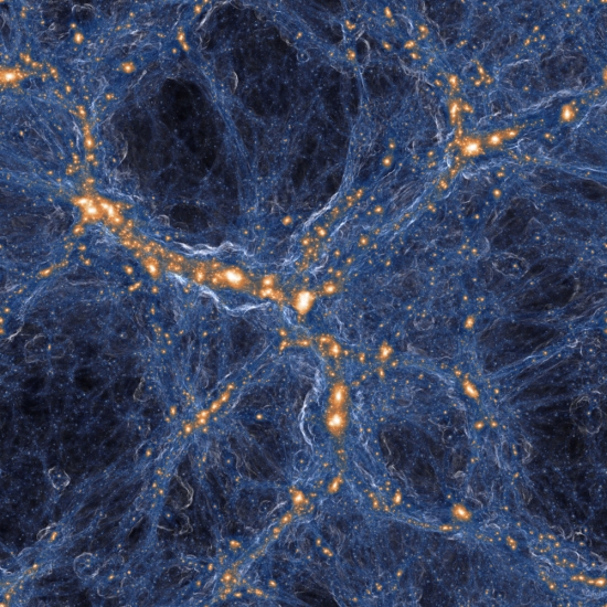 Maior simulação do Universo mostra cubo de 1 bilhão de anos-luz