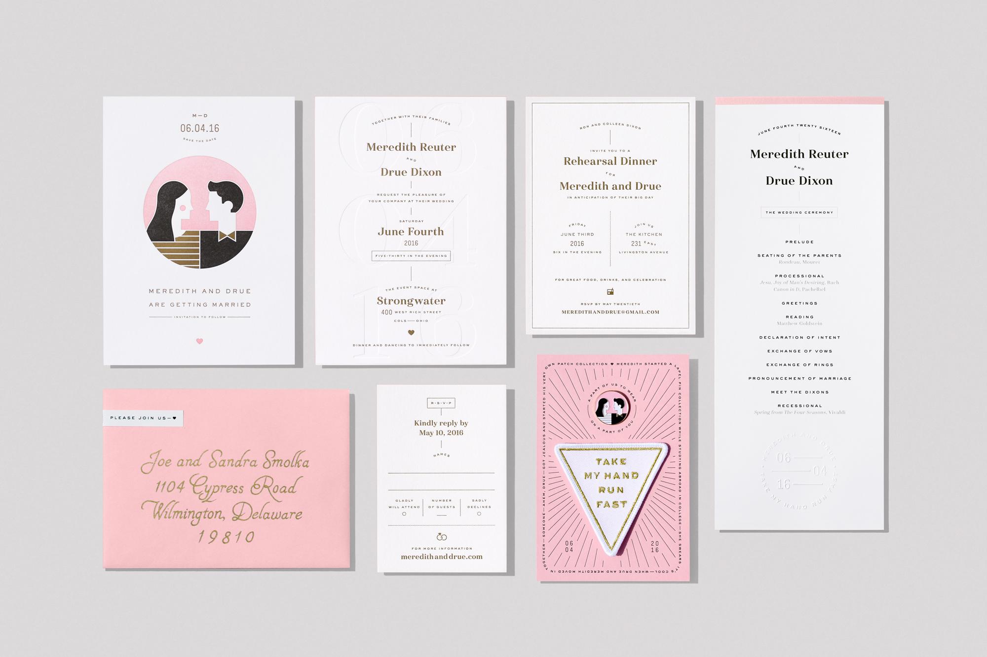 Award-Winning Wedding Suite: The Dixon Wedding - Print Magazine