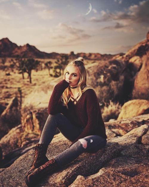 Portraitist — Katie Grace Bell by Matt Garcia in Joshua Tree...