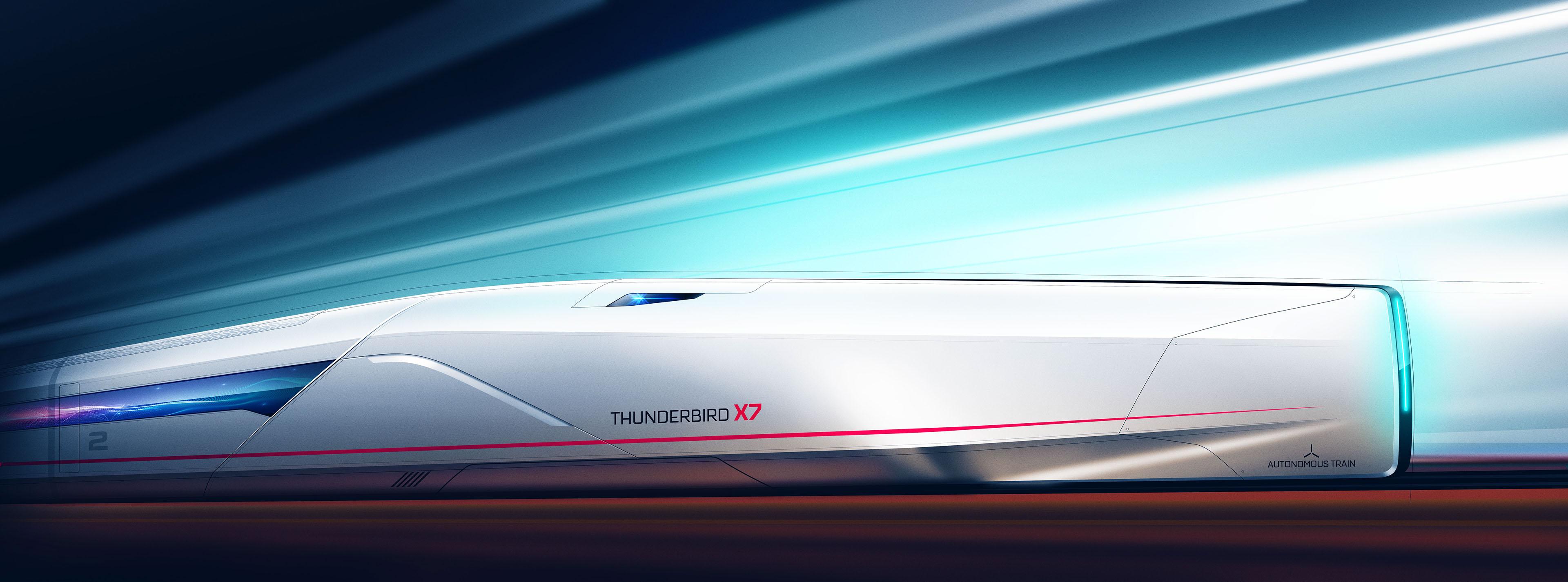 THUNDERBIRD X7 Autonomous train on