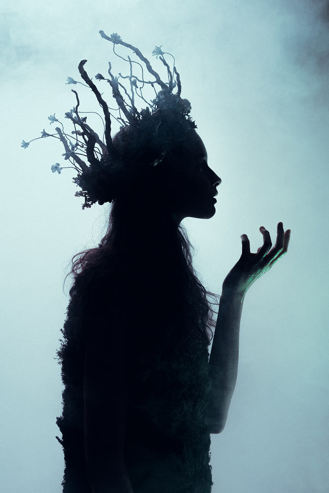 Dryad of Night by Leo Ch on Inspirationde