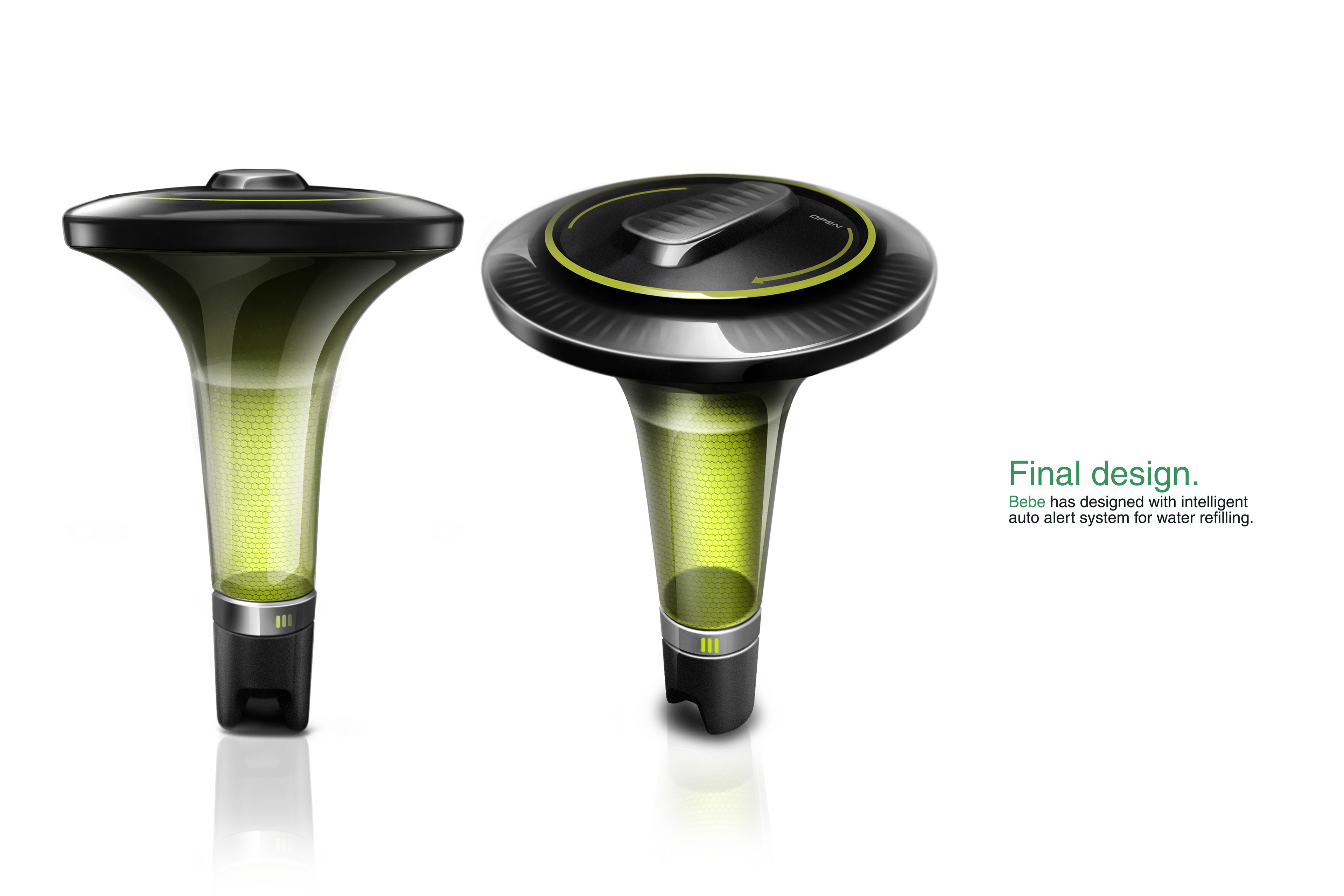 Digital plant watering device on