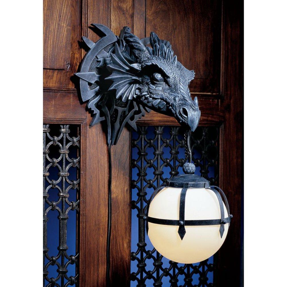 Design Toscano Marshgate Castle Dragon CL2425 Wall Sconce | Hayneedle