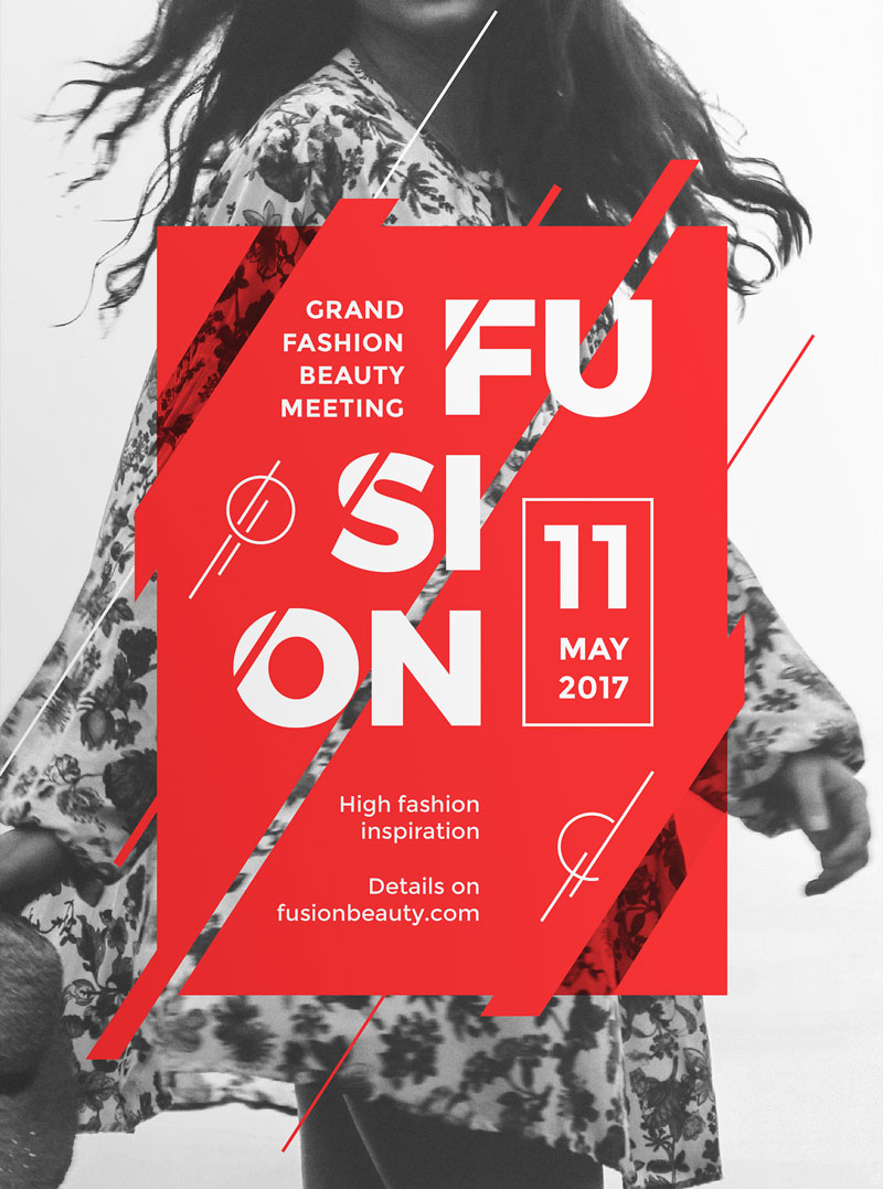 Fusion – Modern and Creative Poster on Inspirationde