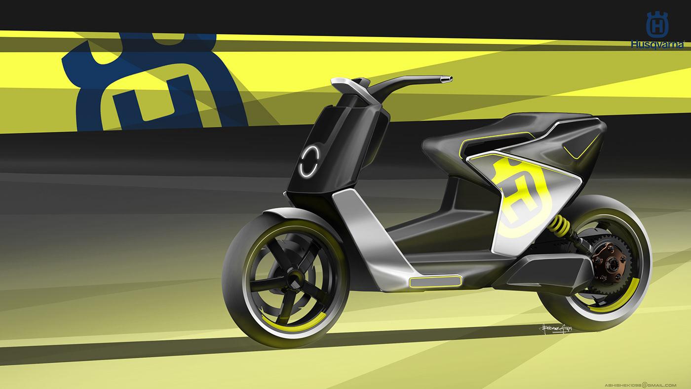 Husqvarna Electric MotoScooter on
