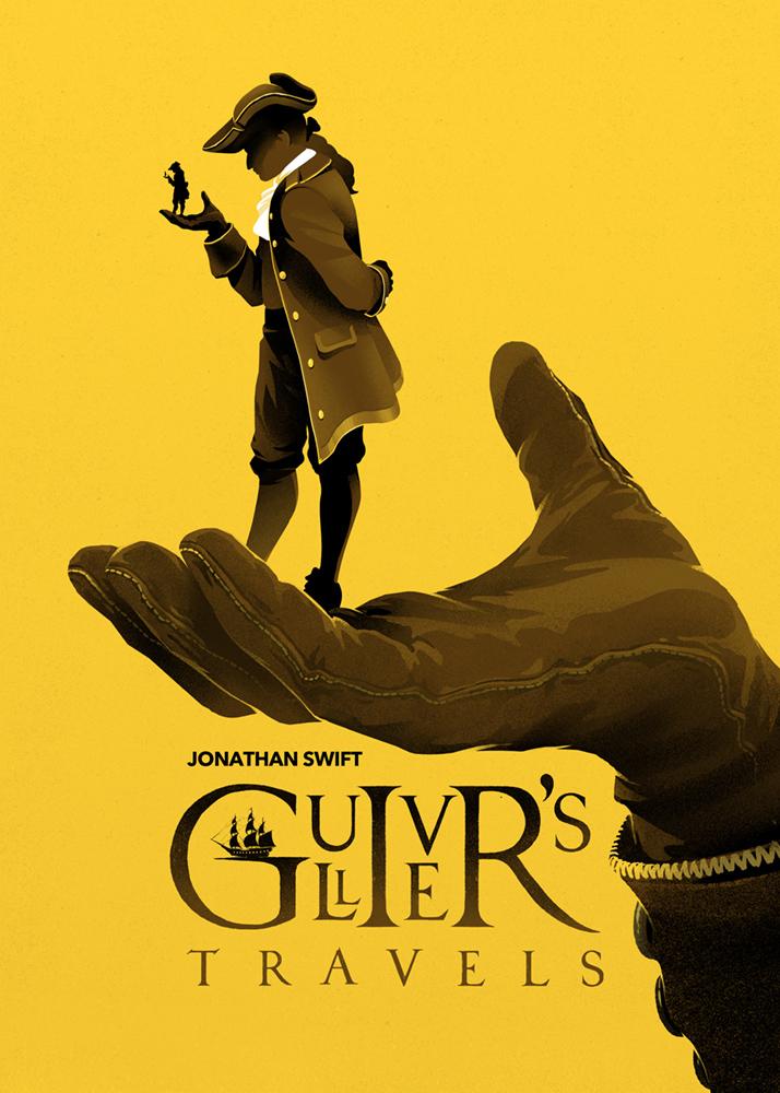 Gulliver's Travels Poster Design on Inspirationde
