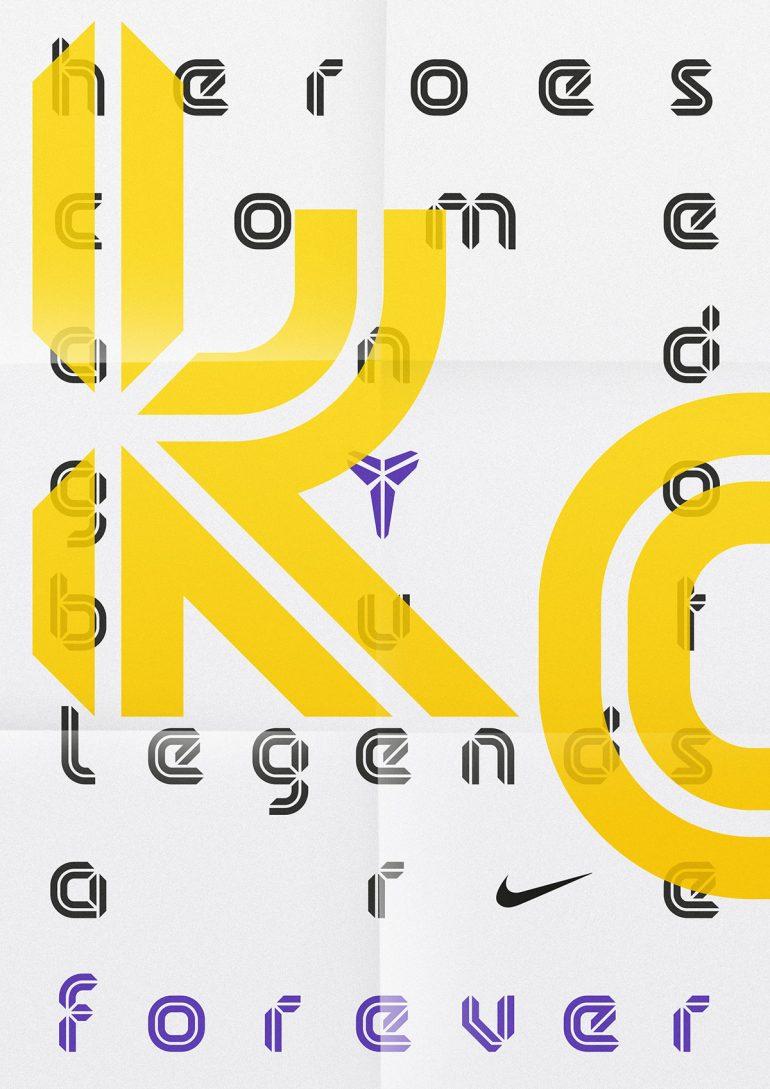 Kobe Bryant — Display Typeface on Inspirationde
