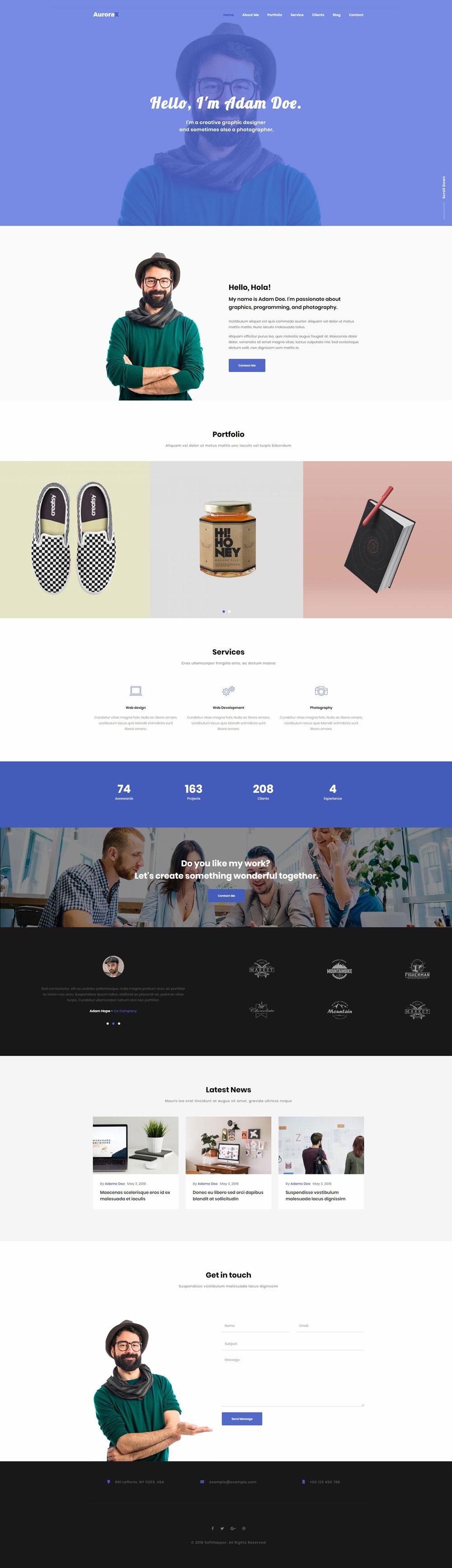 AuroraX - Portfolio on Inspirationde