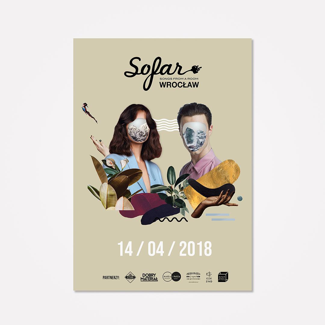 """Zakrzewska Ala na Instagramie: """"Collage for yesterday gig for @sofarsounds ???? • • • • • • • • • #collage #sofarsounds #sofar #poster #illustration #sofarwroclaw…"""""""