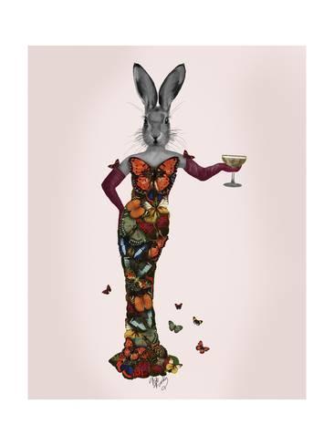 Art Print 'Rabbit Butterfly Dress' by Fab Funky - Workspace ART