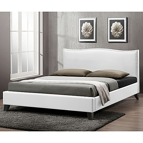 Battersby Designer Bed with Upholstered Headboard - Bed Bath & Beyond