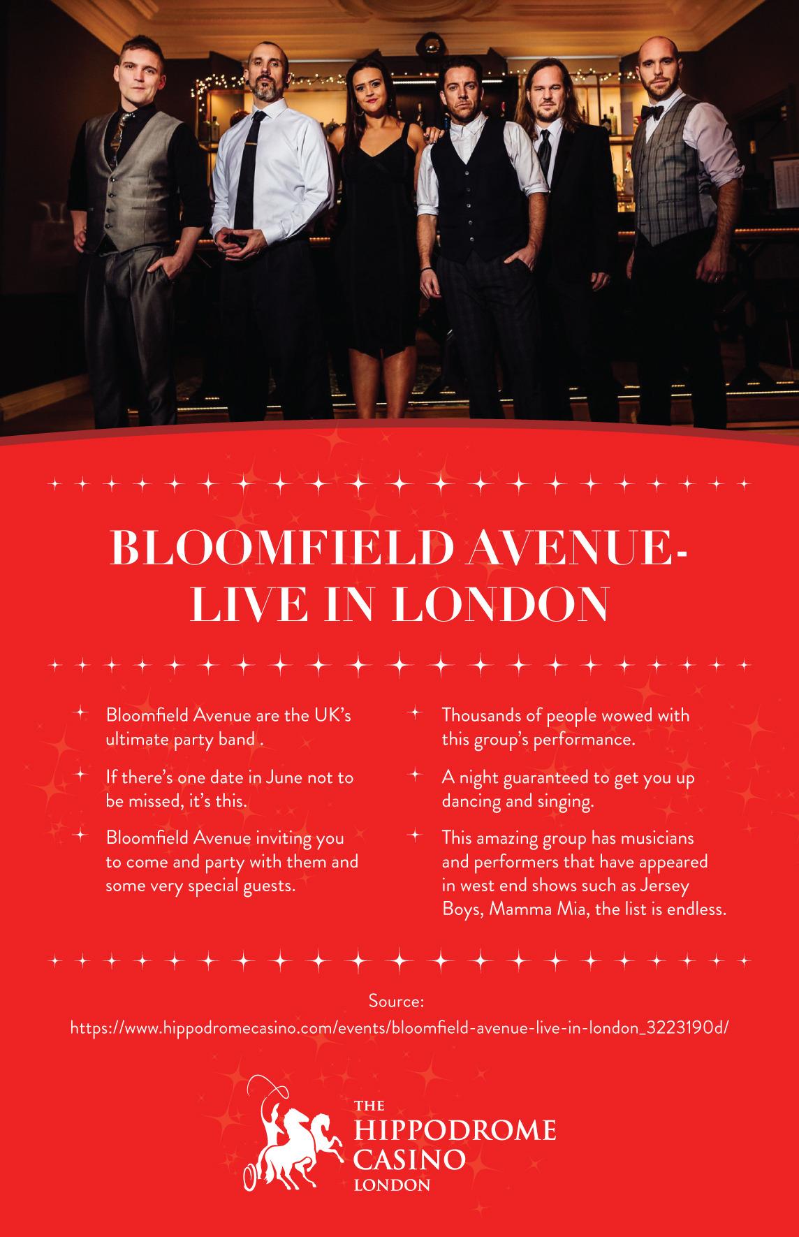 Hippodrome Casino — Bloomfield Avenue - Live in London