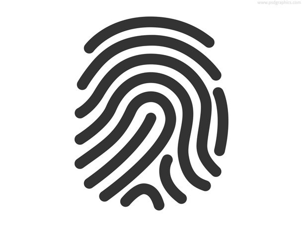 Fingerprint icon (PSD) on Inspirationde