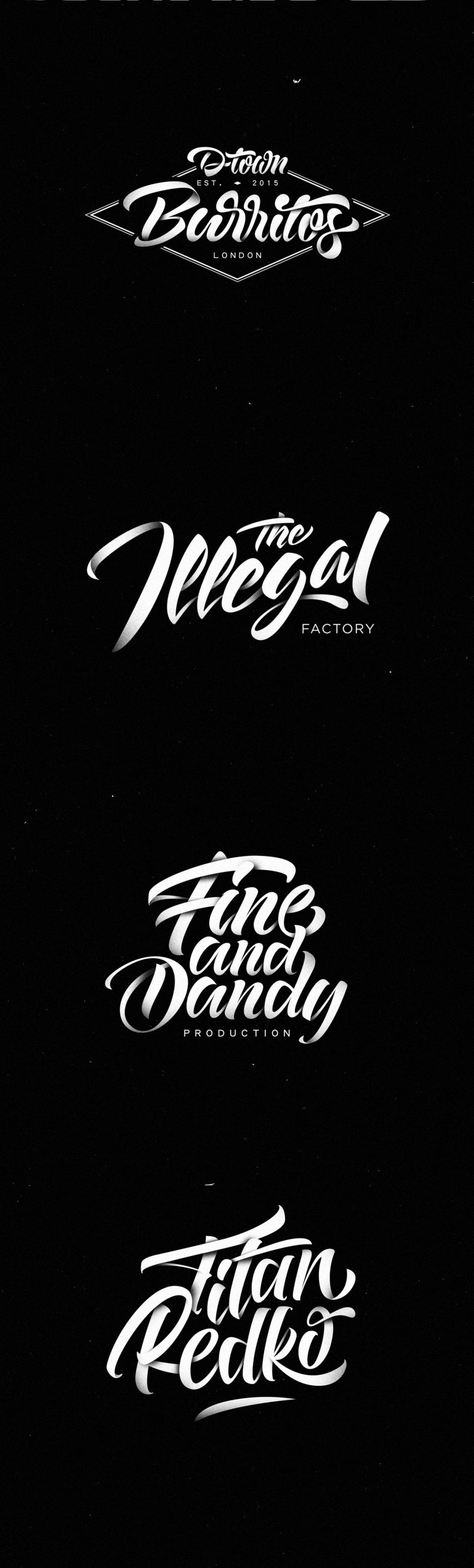 Lettering Logos Collection N°4 on Inspirationde