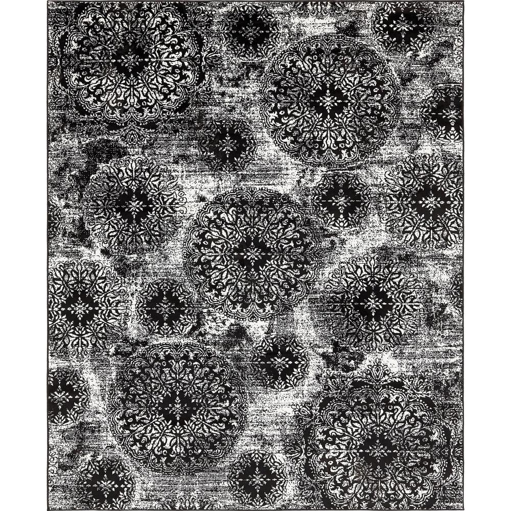 Unique Loom Monaco Black 8 ft. x 10 ft. Area Rug-3138663 - The Home Depot