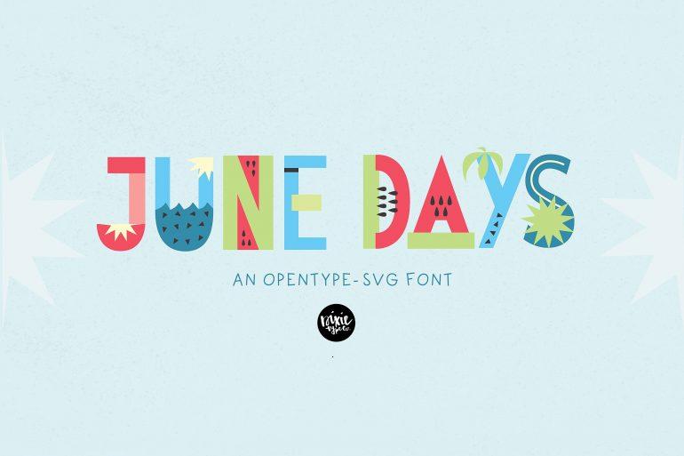 JUNE DAYS OpenType-SVG Color Font on Inspirationde