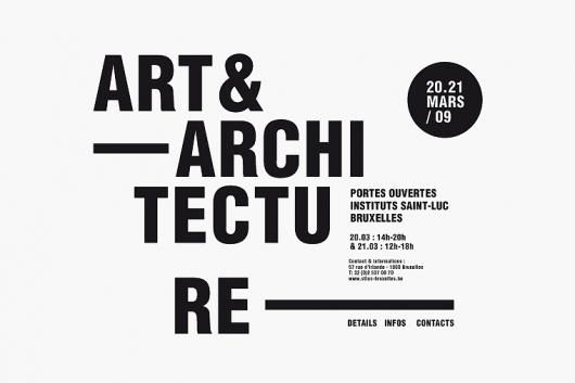 Designspiration — Identity Art & Architecture St Luc Institutes Brussels - Minimalissimo